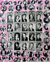 1930 YEARBOOK PHOTOS High School Pictures Punched Clipped Collage Journal Smash