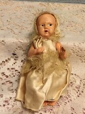Antique Celluloid Baby Doll Jointed Arms And Legs Dressed 5""