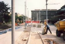 PHOTO  METRO CONSTRUCTION 1991 PICCADILLY GARDENS TRAM STOP 1