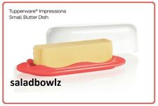TUPPERWARE New IMPRESSIONS SMALL BUTTER DISH with COVER in WATERMELON BPA Free!