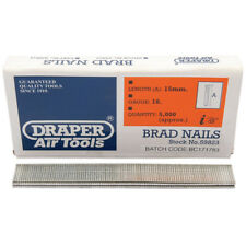 5000 Draper 15mm Brad Nails for the 15636 57563 83659 14607 Staplers/Nailers