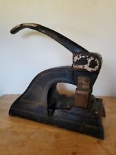 Old Cast Iron Cummins No 15 Perforating Machine Perforator Check Canceler Metal