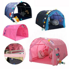 Children's Cabin Bed Tunnel Tent Kid Dream Pop Up Crib Canopy Mosquito Net
