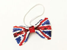 UNION JACK SEQUIN BOW TIE FOR NATIONAL CELEBRATION PARTY ACCESSORY