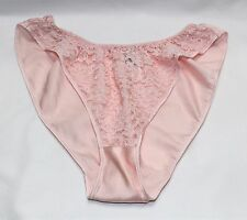 Vintage 90's Christian Dior Intimates Pink Lace Front High Leg Panties - Small
