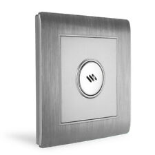 Wall Mount Voice Sound & Light Controlled Sensor Activated Lamp Switch Silver