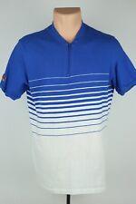 Vintage 80's Trek Wear Mens L (Fits M) Blue/White Cotton Cycling T Shirt USA