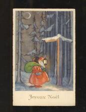 CARL LINDEBERG Weihnachtsmann mit Laterne im Winterwald 1937