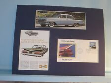 The 1959 Chevy Bel Air & First day Cover of the Chevy stamo