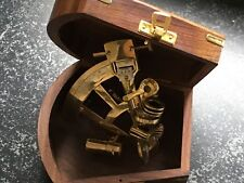 Sextant Messing in edler Holzbox Nautik Deco - Schiff Boot - Vintage + retro
