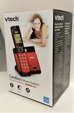 VTech DECT 6.0 Cordless Phone System Red CS5119-16 BRAND NEW & SEALED