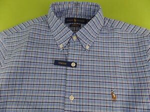 Polo Ralph Lauren Men's Oxford Shirt Slim Fit Stretch Button-Down Long Sleeve M