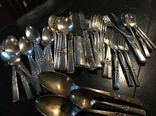 Vint Community Morning Star 45 pc Flatware Silverplate Set Of 7 Place Setting*