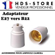 E27B22 PROLONGATEUR ADAPTATEUR E27 VERS B22 POUR AMPOULES CAMERAS OU STANDARDS