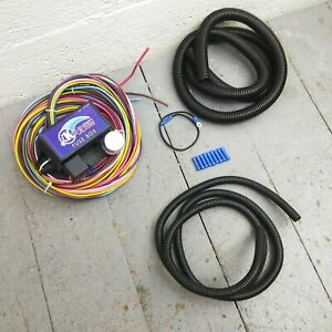 12v 18 Circuit 12 Fuse Universal Wiring Harness Kit 1958 oldsmobile 1937 buick