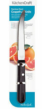 Kitchen Craft 19cm Stainless Steel Curved Double Edged Grapefruit Knife Cutlery