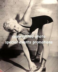 Vintage 1950's Penny Banner Women Lady Wrestler Wrestling Poster