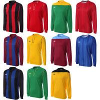 Umbro Men's Long Sleeve Football Jersey Soccer Shirt Team Kit Training Blue Red