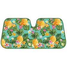 Hawaiian Pineapple Fruit Flower Reversible Windshield Sun Shade UV Protection