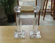 "Pair of Waterford Crystal Art Deco Style Metropolitan Candlesticks - <10"""