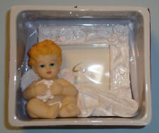 CHERIE & KALVIN Collection Mini Picture Frame Angel Figurine With Guitar, NEW