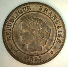 1897 A France 5 Cent Centimes Bronze Coin YG