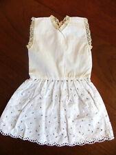 robe d'été vintage 38 cm pour poupée avec broderie anglaise