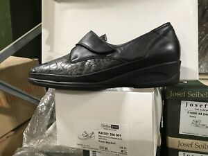 Waldlaufer Ladies Wide Fitting style K45301 in Black combination leather size 8.