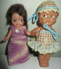 "Two Antique/ Vintage Celluloid Made in Japan Dolls 6 1/2"" & 7"""