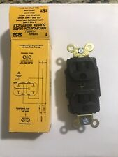 Hubbell Brown Specification Grade Duplex Receptacle Cat. No. HBL5262