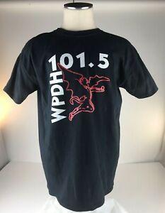 WPDH 101.5 Radio Station Rock & Roll Poughkeepsie T-shirt Men's Large Black