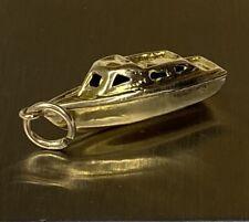 Unusual, Solid 18k Gold Fishing Tug Boat Charm ~ 2.2 grams ~ not scrap ~ LOOK!