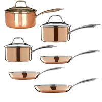 Copper Minerva Saucepan and Frying Pan Kitchen Cookware with Handle