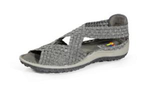 Zee Alexis Saletto Pewter Woven Slip-On Peep Toe Sandal Women's sizes 6-11/NEW!!