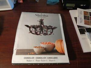 Martha Stewart Chipboard Bat Chandelier Hanging Halloween Decoration With Beads
