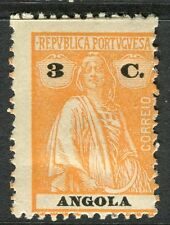 PORTUGUESE ANGOLA;  1914-20s early Ceres issue fine Mint hinged 3c. value