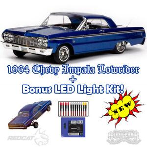 NEW 1964 Impala RC Lowrider w/ Hydraulics + LED Light Kit Jevries Redcat Racing