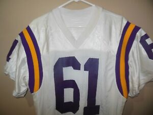 Vintage Minnesota Vikings game used football jersey