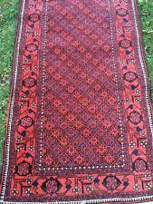 "Beautiful Vintage Hand Made Fine Bokhara Turkoman Wool Rug 3' x 5'9"""