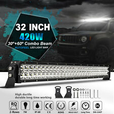 "7D+ 32inch 420W CREE LED Light Bar Work Combo Offroad 4x4WD UTE Driving 30"" 34"""