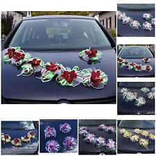 7 St. Auto Schmuck Orchidee Blumen Braut Dekoration Autoschmuck Hochzeit LA58