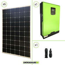 Kit solare fotovoltaico 1.8kW 24V monocristallino inverter edison 3KW MPPT 80A