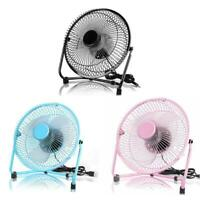 Metal 8 Inch Portable USB Fan with 2 Speeds Personal Cooling Fan for Home Office