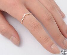 V Rings Sterling Silver Rose Gold Plated Best Price Jewelry Gift Selectable