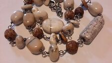 RETIRED Silpada African Opal White Howlite Shell Sterling Silver Necklace N1692
