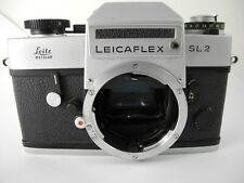 LEICA SL2 CHROME  CAMERA WORKS WELL METER SHUTTER RIGHT ON GREAT CAMERA