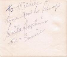 Linda Hopkins Signed Vintage Album Page