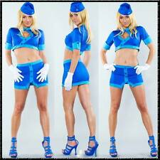 5 pezzi sexy assistenti di volo Set 34-38 Gonna E Top Set Hostess Costume