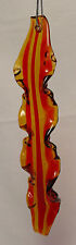 NOS Handmade BACON STRIP Spun Glass Xmas Tree Ornament Breakfast Food Pork YUM!