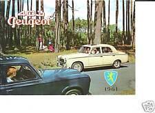 PEUGEOT 403 dont CABRIOLET - 1961 / catalogue brochure prospekt catalog dépliant